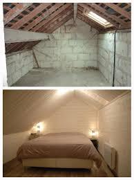 parquet stratifié chambre combles ammenagés en chambre mur et plafond en lambris et sol en