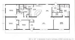 four bedroom house plans 4 bedroom floor plan f 1001 hawks homes manufactured house plans k