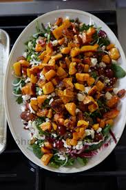 fall harvest salad with maple vinaigrette and bobby deen