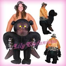 Fat Suit Halloween Costume Chub King Kong Chimpanzee Riding Inflatable Clothing Blow