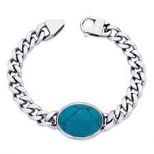 bracelet for fashionable surgical steel bracelet for men by peora psb704