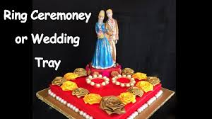 wedding tray diy how to make decorative ring ceremoney wedding tray plate