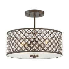 Quoizel Flush Mount Ceiling Light Shop Quoizel Juliana 14 5 In W Bronze Etched Glass Semi Flush