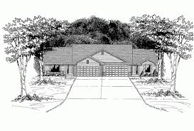House Plans 2500 Square Feet Eplans Ranch House Plan Charming Duplex With Two Car Garage