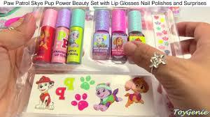 paw patrol skye pup power beauty lip glosses nail