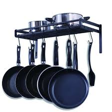 lighted hanging pot racks kitchen shop amazon com pot racks