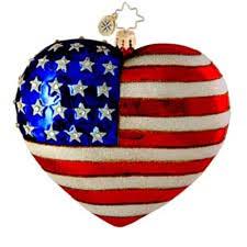 christopher radko ornaments radko amazing grace patriotic usa