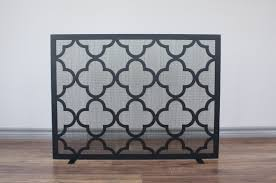full arch fireplace screen anvil fireside