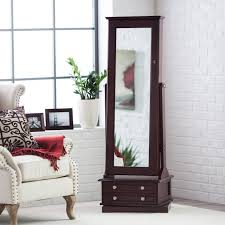 jewelry armoire full length mirror full length mirror and jewelry armoire
