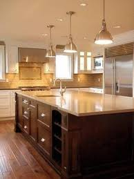 traditional kitchen decor with chocolate brown island and perfect