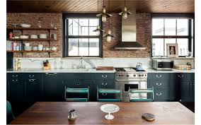 Kitchen Island And Dining Table Kitchen Cupboards Made With Bricks Rectangle Brown Minimalist Wood