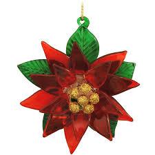 poinsettia spun glass ornament 1131799 baubles n bling