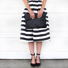 Design Blogger Livvyland Austin Fashion And Style Blogger High Waisted Striped Skirt Dress Ala