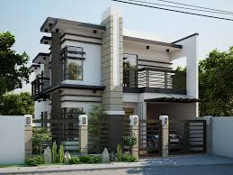 two storey modern house brighter color perhaps dom house