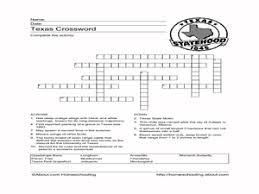 texas crossword puzzle 4th 5th grade worksheet lesson planet