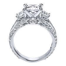 engagement rings princess cut white gold malva 18k white gold princess cut 3 stones engagement ring