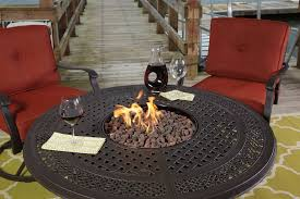 alderbrook faux wood fire table fire pit table lowes alderbrook faux wood propane dining burning