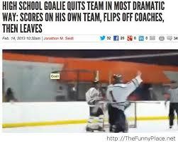 Hockey Goalie Memes - goalie thefunnyplace