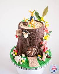 rabbit cake easter tree stump cake with rabbit veena azmanov
