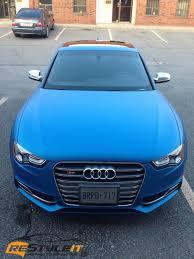 matte audi s5 audi s5 matte metallic blue vehicle customization shop vinyl