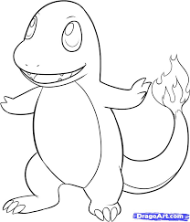 draw charmander step step pokemon characters anime