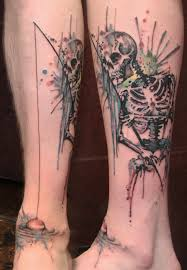 watercolor skeleton fishing tattoos photos pictures and