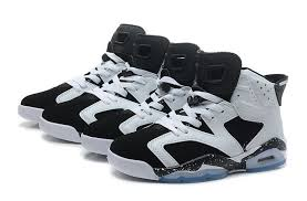 6 rings black and white air 6