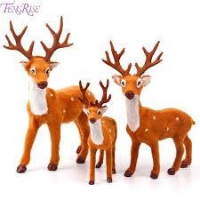 christmas deer fengrise 15 20 25cm reindeer christmas deer elk plush simulation
