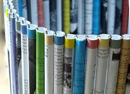 freshlyfound com paper tube waste paper basket
