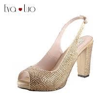 wedding shoes block heel chs637 block heel slingbacks high heels women shoes dress pumps