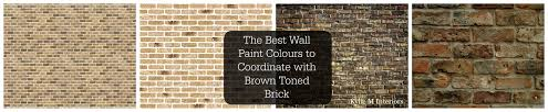 the best wall paint colours to coordinate with a brown or old tone