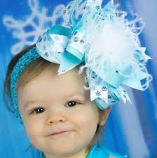 baby hair bows buy blue and white snowflake baby hair bow headband online at