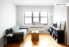 before and after chic nyc studio apartment makeover