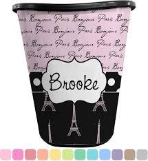 paris bonjour and eiffel tower waste basket personalized potty