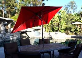 Red Rectangular Patio Umbrella Patio Umbrella Red 5 X 8 Rectangularquality Patio Umbrellas