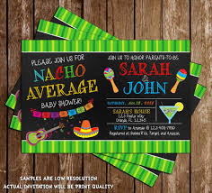 novel concept designs nacho average baby shower fiesta baby