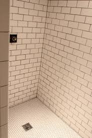 Tiling The Bathroom Floor - basement shower it u0027s tiled
