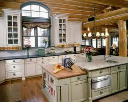 Log Cabin Kitchens With Modern And Rustic Style HomeStyleDiarycom - Cabin kitchen cabinets