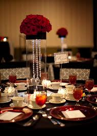 Black And White Centerpieces For Weddings by Gorgeous Centerpiece For Black White And Red Wedding Red