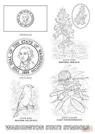 washington state symbols coloring page free printable coloring pages