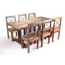 indian wood dining table recycled wood dining table six seater at rs 20000 piece indian