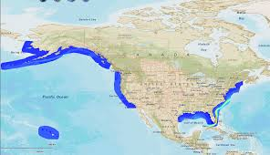 map usa oceans us map of states with oceans map of united states thempfa org