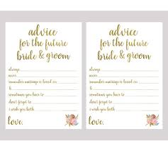 advice for and groom cards advice for the and groom bridal shower printable