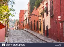Spanish Colonial Homes by Spanish Colonial Homes Along Cuadrante Street In The Historic