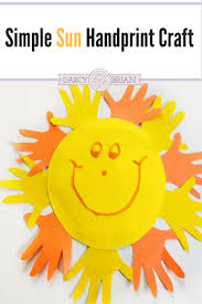 fun and easy handprint sun paper plate craft for kids easy