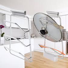 lid rack door kitchen storage cabinet cover holder organizer