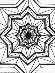 difficult geometric design coloring pages and kaleidoscope