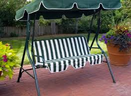 hanging wooden bench outdoor swing back lattices are partially