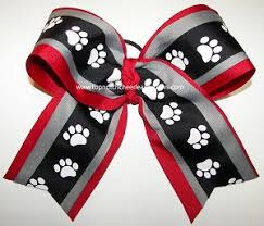 african american cheer hair bows georgia bulldogs cheer bow bulldog paw print black red cheer bow