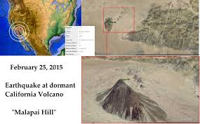 Earthquake Map Los Angeles by 2 26 2015 U2014 Southern California Dormant Volcano Shows Movement